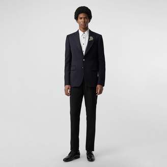 Burberry Slim Fit Bullion Floral Wool Gabardine Blazer