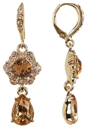 Givenchy Glass Crystal Double Drop Earrings