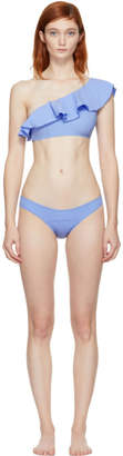Lisa Marie Fernandez Blue Arden Flounce Bikini