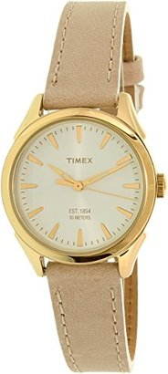 Timex Women's Chesapeake Quartz Brass and Leather Dress Watch, Color:Brown (Model: TW2P820009J) $55 thestylecure.com