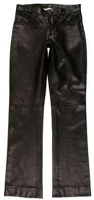 Saint Laurent Leather Flare Pants