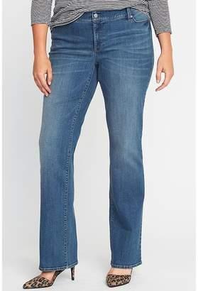 Old Navy Mid-Rise Secret-Slim Pockets Plus-Size Boot-Cut Jeans