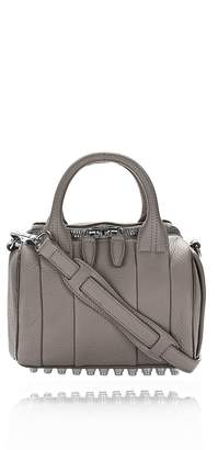 Alexander Wang Mini Rockie In Soft Pebbled Matte Mink Matte With Rhodium