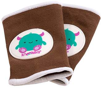 Kneekers Knee Pads for Crawling Babies (Friendly Monster in Brown/Large)