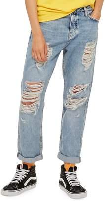 Topshop Ripped Hayden Boyfriend Jeans 30-Inch Leg