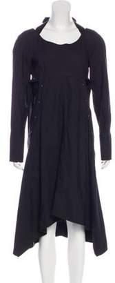 Proenza Schouler Long Sleeve Button-Up Dress Black Long Sleeve Button-Up Dress