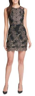 GUESS Lace Sheath Mini Dress