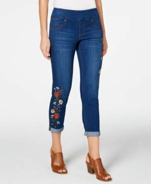 Style&Co. Style & Co Petite Embroidered Cropped Jeggings, Created for Macy's