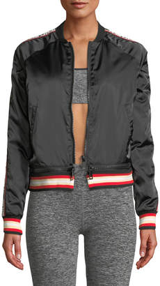 The Upside Sugar Zip-Front Logo Bomber Jacket