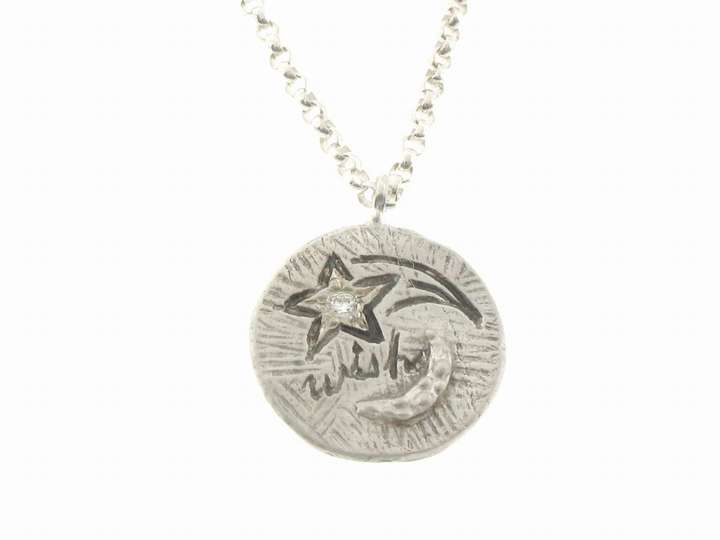 Yayoi Forest Wish Upon a Star Pendant in Silver