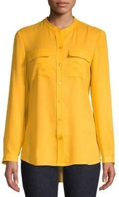 Isaac Mizrahi IMNYC High-Low Button-Down Shirt