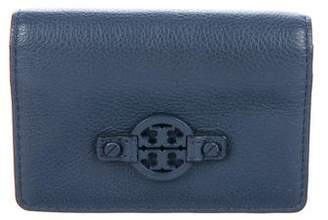 Tory Burch Leather Flap Card Holder
