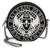 Balmain Disco Embroidered Logo Crossbody Bag