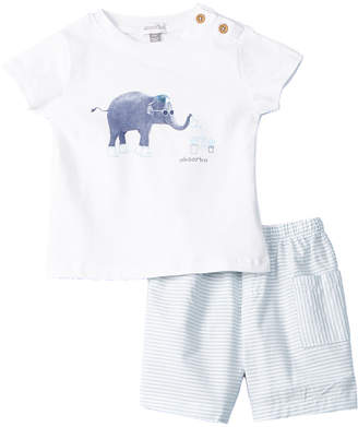 Absorba 2Pc Elephant Short Set