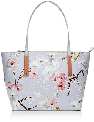 Ted Baker Oriental Bloom Small Leather Tote $219 thestylecure.com