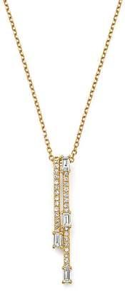 "KC Designs 14K Yellow Gold Mosaic Diamond Double Bar Necklace, 15"""