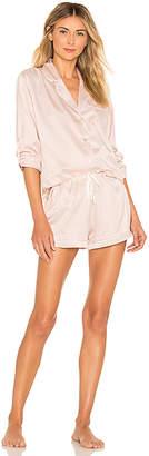 homebodii Long Piping Pajama Set