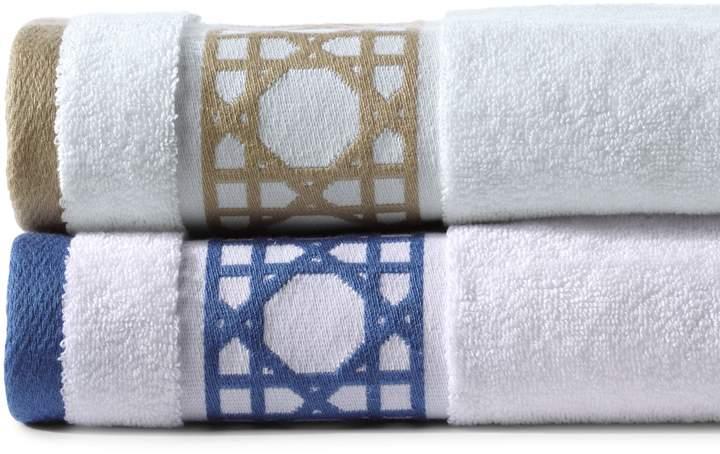 Lands'end Supima Cane Weave Border Washcloths (Set of 2)