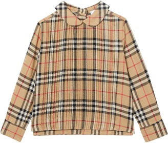 Burberry Priscilla Check Print Top