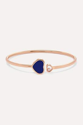 Chopard Happy Hearts 18-karat Rose Gold, Diamond And Lapis Lazuli Cuff
