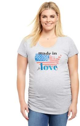 Motherhood Maternity Plus Size Made In America Maternity Tee