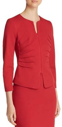 Emporio Armani Ruched Cropped Jacket
