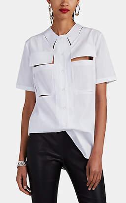 Maison Margiela Women's Cotton Poplin Cutout Shirt - White