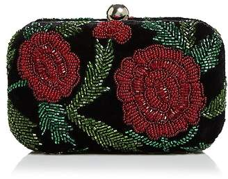 Sangria From St Xavier Beaded Velvet Clutch
