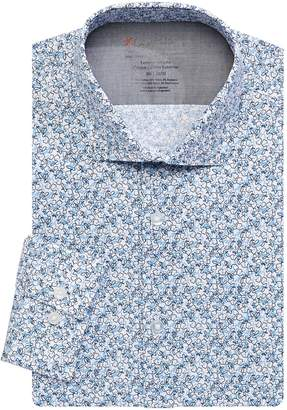 Calvin Klein X-Fit Slim Floral Long Sleeve Dress Shirt