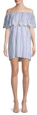 Pilyq Striped Cotton Mini Dress