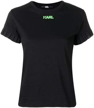 Karl Lagerfeld Neon Lights frill T-shirt