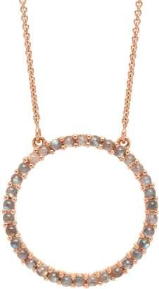 Lola Rose London - Circle Medium Charm Necklace Labradorite