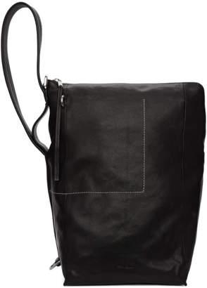 Rick Owens Black Bucket Messenger Bag