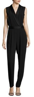 BOSS Sleeveless Tuxedo Jumpsuit $845 thestylecure.com
