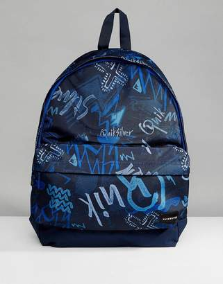 Quiksilver Everyday Poster Backpack In Navy Logo Print
