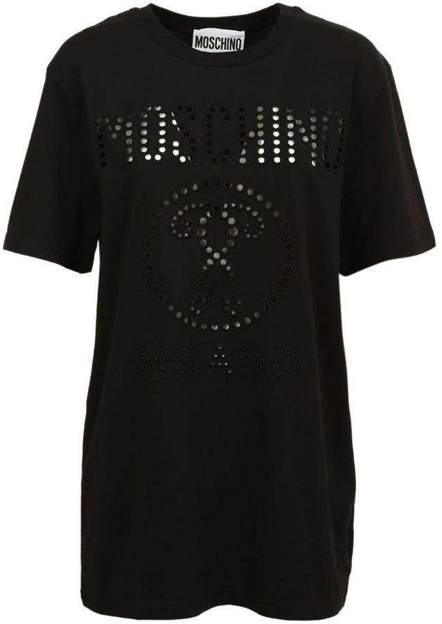 MoschinoMoschino Perforated Logo T-shirt