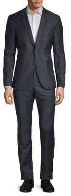Strellson Vince Madden Checkered Wool Suit