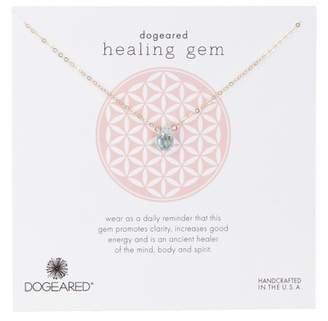 Dogeared 14K Gold Vermeil Healing Blue Quartz Gem Necklace