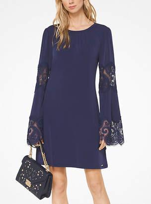Michael Kors Lace Inset Matte-Jersey Dress
