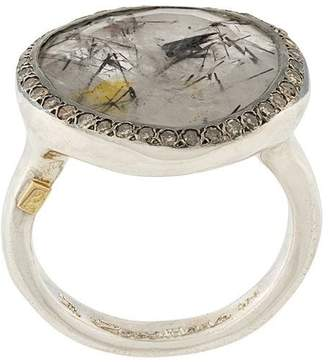 Rosa Maria quartz and diamond ring