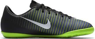 Nike Jr. Mercurial Vapor XI IC Indoor Soccer Shoe (Sz. 2.5Y) Black, Green, Blue