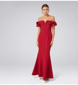 Ever New LULU RUFFLE OFF SHOULDER GOWN