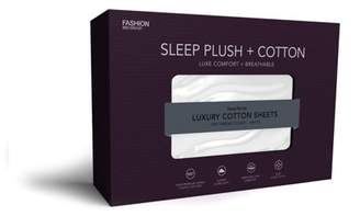 Leggett & Platt Sleep Plush White 5-Piece 500 Thread Count Cotton Bed Sheet Set, Split California King