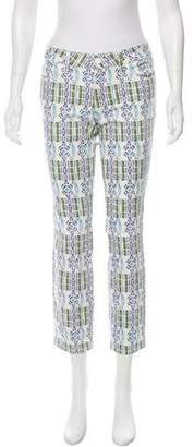 Tory Burch Abstract Mid-Rise Jeans