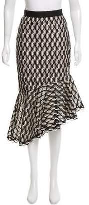 Lela Rose Embroidered Knee-Length Skirt w/ Tags