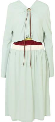 Marni Gathered Crepe Midi Dress - Mint