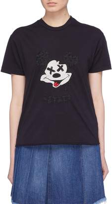 Sandrine Rose 'The Two Hundred' graphic embroidered T-shirt