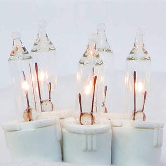 Asstd National Brand 100Ct Clear Perm-O-Snap Mini Twinkle Christmas Light Set For Curtain with White Wire