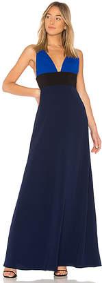 Jill Stuart V Neck Colorblock Gown