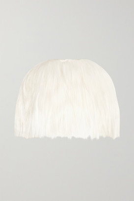 Halfpenny London - Rosamund Goat Hair Cape - White